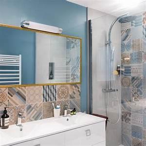 12 salles de bains pour choisir son carrelage et sa faience for Salle de bain design avec décoration salle de mariage pas cher