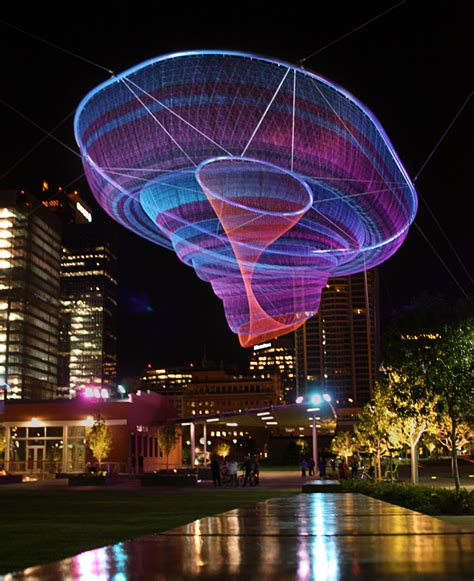 city park water and light installation is here at janet echelman Inspirational
