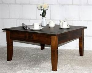 Beistelltisch Holz Massiv : massivholz couchtisch beistelltisch kolonial sofatisch tisch 85x85cm ~ Udekor.club Haus und Dekorationen