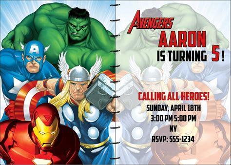 avengers  options custom digital printable party