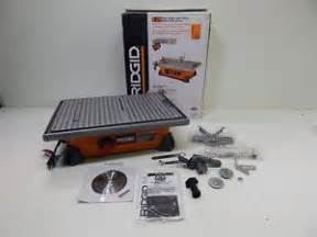 ridgid r4020 7 034 portable jobsite wet tile saw 6612 ebay