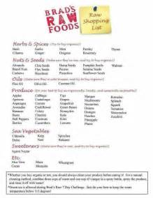Raw Food Diet Shopping Lists