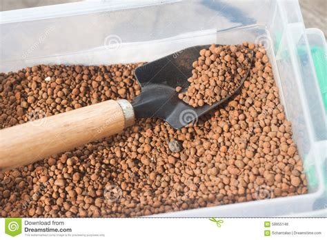 pumice for gardening pumice pebbles in and gardening tool stock photo