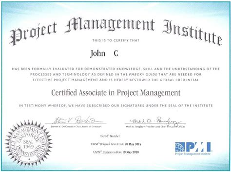 Capm Certified Resume by Passing The Capm Economics