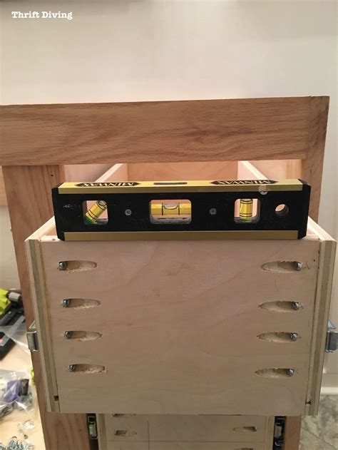 diy kitchen cabinet drawers build a diy bathroom vanity part 4 the drawers 6818