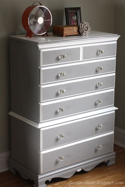 june bear pewter  white chest  drawers guest