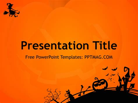 halloween powerpoint template pptmag