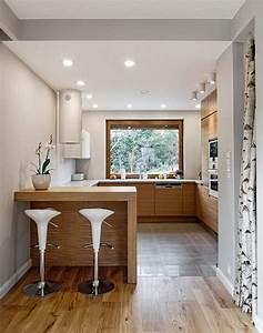 Aménagement Cuisine En U : cuisine en u ouverte pour tout espace 60 photos et ~ Premium-room.com Idées de Décoration