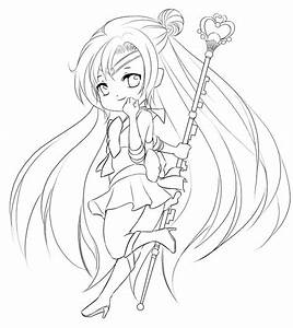 Cute Chibi Base Pose Coloring Pages