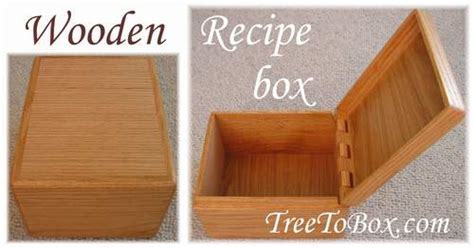 woodwork wood plans recipe box  plans