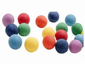 Cotton Balls Lichterkette : baumwollkugel lichterkette rainbow ~ Frokenaadalensverden.com Haus und Dekorationen
