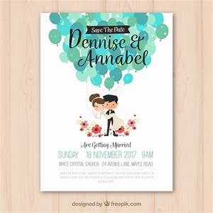 wedding invitation with nice couple vector free download With wedding invitation with photos of couples free