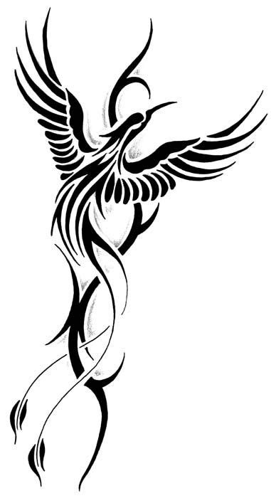 gallery  tribal rising phoenix tattoo designs