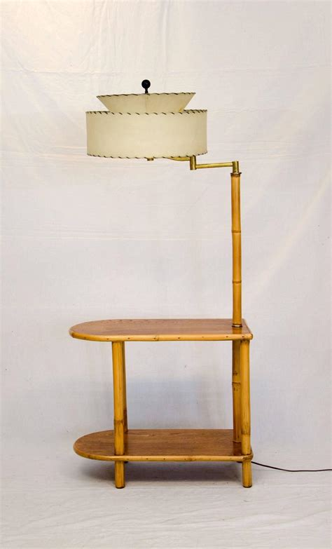 end table with attached l rattan end table with attached l for at 1stdibs