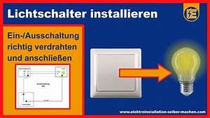 Fi Schalter Anklemmen : lichtschalter anschlie en ein ausschaltung elektroinstallation lichtschalter montieren youtube ~ Whattoseeinmadrid.com Haus und Dekorationen