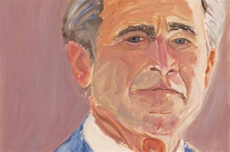 george  bush unveils  oil paintings  world leaders