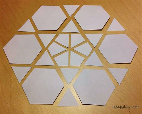 Free Paper Piecing Hexagon Templates by Fabadashery Mini Hexagon Mug Rug