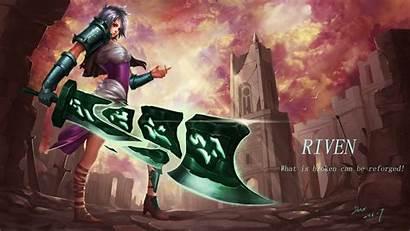 League Legends Riven Fan Lolwallpapers Fiora Wallpapers