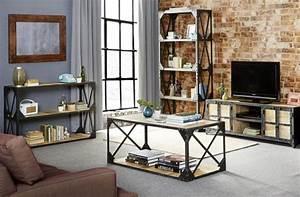 personnalisez votre salon avec le meuble tv industriel With idee couleur mur salon 9 personnalisez votre salon avec le meuble tv industriel