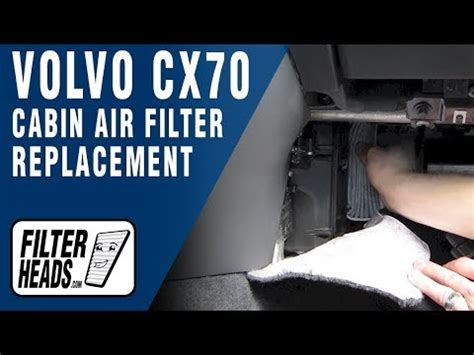 replace cabin air filter volvo xc youtube