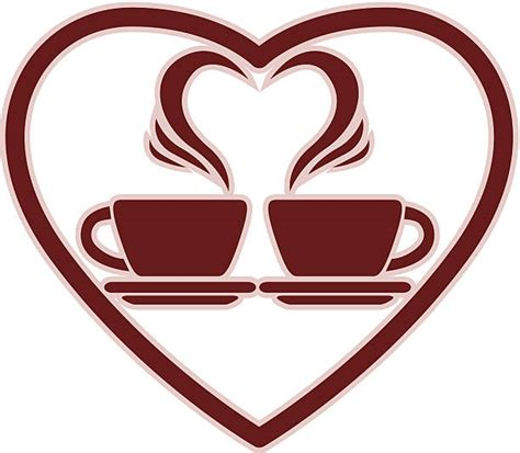 Coffee heartbeat svg heart ekg svg coffee mug svg coffee. Two Coffee Cup With Heart Vector Illustrations, Royalty-Free Vector Graphics & Clip Art - iStock