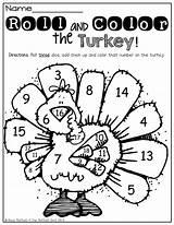Dice Turkey Thanksgiving Kindergarten Preschool Worksheets Roll Activities Math Printables Fall Coloring Them Activity November Crafts Rolls Classroom Moffattgirls Preschoolers sketch template