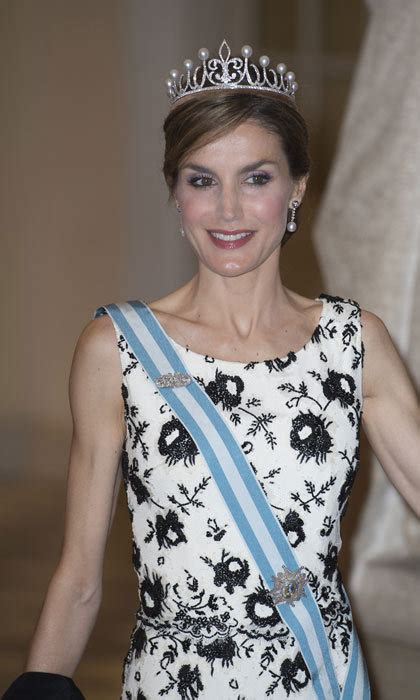 Queen Letizia Debuts Diamond Tiara Gift From King