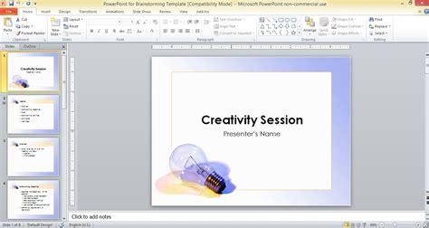 powerpoint  brainstorming template