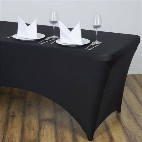 tablecloth for 8 foot rectangular table 8 ft black rectangular spandex tablecloth for wedding