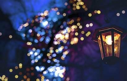 Fairy Lights Wallpapers Christmas Winter Night Bokeh