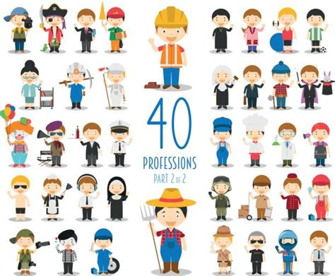 Royalty Free Different Professions Clip Art, Vector Images