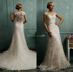 vintage lace wedding dresses with sleeves vintage lace wedding dress with cap sleeves naf dresses
