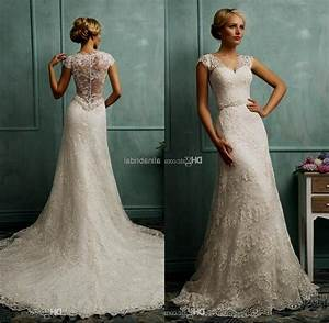vintage lace wedding dress with cap sleeves naf dresses With lace wedding dresses with cap sleeves