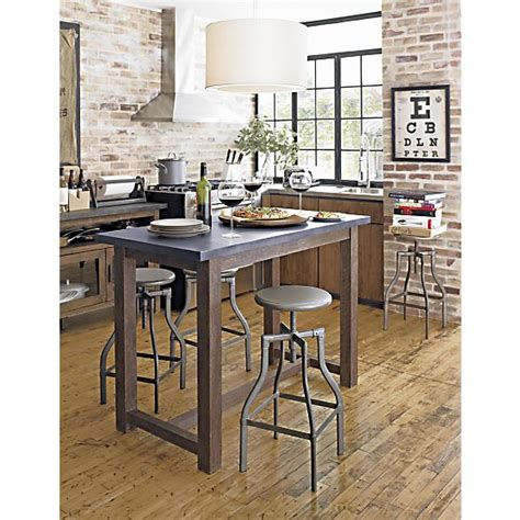 high kitchen island table industrial kitchen design brick wall counter height 4219