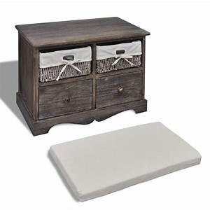 Banc De Rangement Bois : la boutique en ligne banc de rangement brun en bois avec 2 ~ Teatrodelosmanantiales.com Idées de Décoration