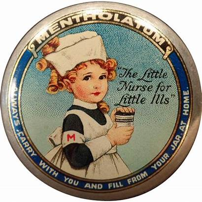 Tin Mentholatum Ointment Medicine Nurse Colorful Ogees