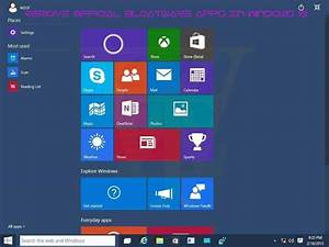 Guide To Remove Official Preloaded Apps From Windows 10