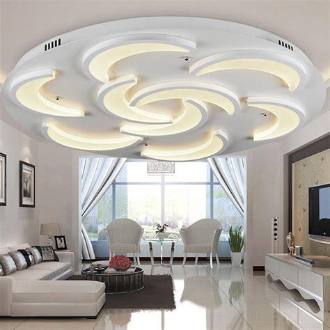 flush mount modern ceiling light  living room moon