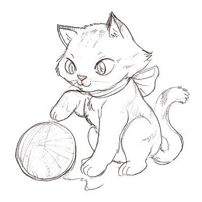 cat color pages printable kitten coloring page cartoon