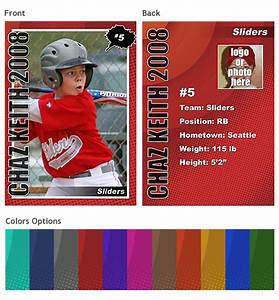 baseball card template sports trading cards template vol With soccer trading card template