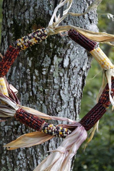 diy wildlife indian corn wreath hgtv