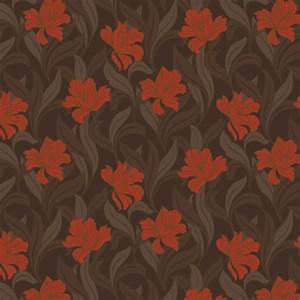 Arthouse Vintage Vogue Wallpaper Orange (L)10m