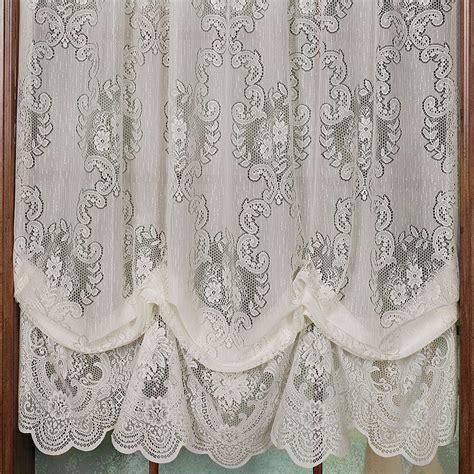 lace curtain priscilla lace tailored curtain valance