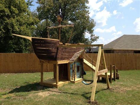 backyard pirate ship plans princess cupcakes playhouse plans and pirate ships