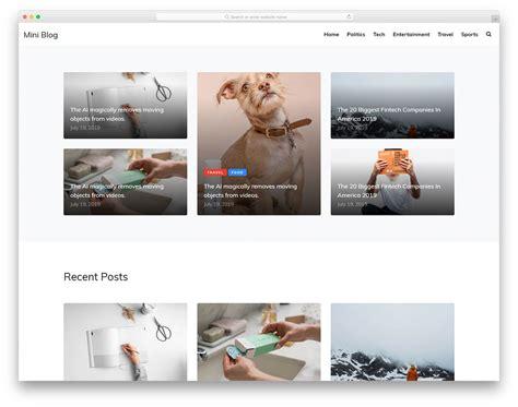 Miniblog - Free Minimal Blog Website Template 2020 - Colorlib