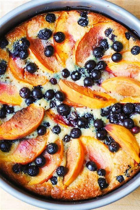 peach  blueberry greek yogurt cake julias album