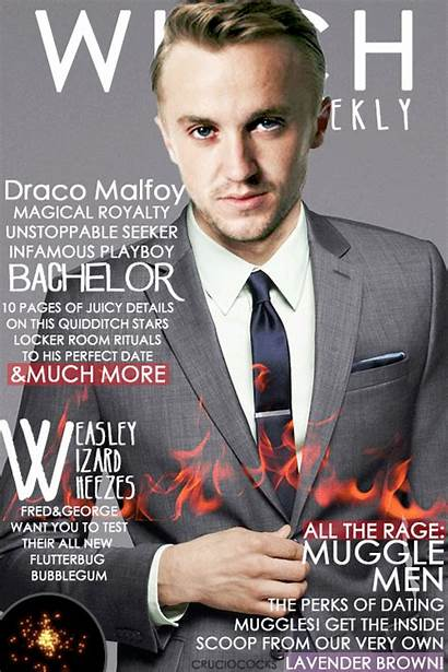 Potter Harry Witch Weekly Magazine Draco Covers