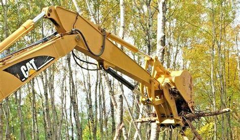 caterpillar  excavator hydraulic progressive link thumb grapple clamp cat  ebay