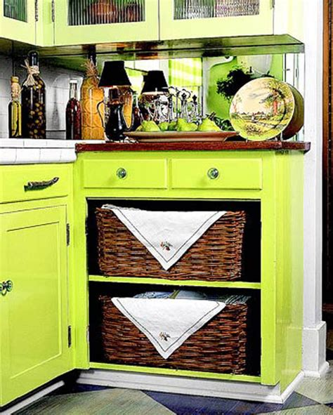 kitchen basket storage 5 stylish kitchen storage ideas the decorating files 2293