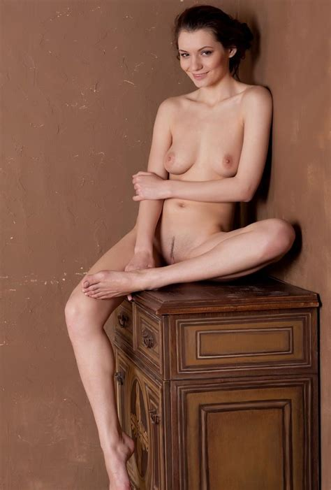 Naked Girl Is Photographed Near The Old Dresser Russian Sexy Girls